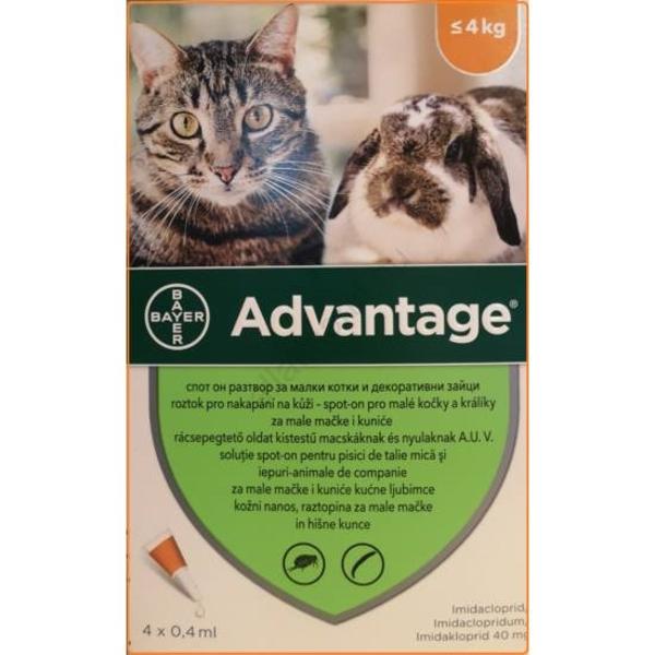 Kép: ADVANTAGE Rácsepegtető Macskáknak, 4 kg alatt
